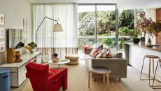 petit salon accueillant moderne