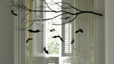 Décoration Halloween intéressante fenêtre indoor intérieur maison