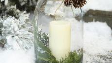 bougie accessoire de déco hiver festive