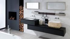 belle salle de bain moderne design noir et blanc