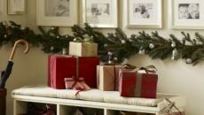 décoration guirlandes Noël entrée
