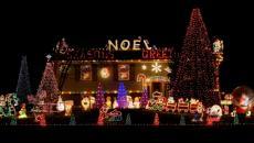 décoration de Noël lumineuse outdoor
