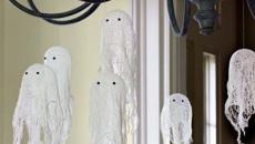 accessoires déco halloween suspendus fantômes