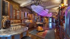 design retrofuturiste cuisine maison