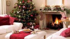 séjour décoration de Noël classe