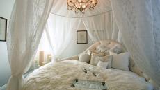Décor romantique dans un lit rond