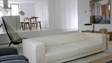 canapé moderne design intérieur blanc