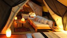 intérieur tente de luxe safari afrique