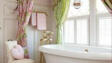 déco salle de bain tissus original