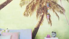 stickers muraux palmiers décoration maison