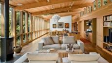 chalet en bois lumineux luxe