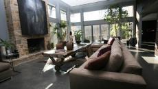 Ambiance moderne et rustique table basse en bois massif