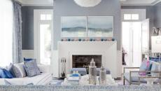 bleu nuances pastel déco séjour salon maison familiale