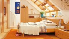design en bois pour une chambre dans les combles