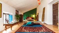 aménagement pièce de yoga combles maison