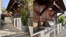 petite cuisine d'été aménagement jardin projet plan