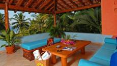 terrasse villa de vacances mexique