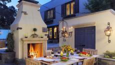 lustre imposant déco extérieure terrasse