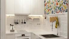 cuisine design blanc compacte petite