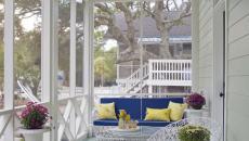 porche grande maison aménagement extérieur