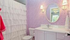 salle de bain fille rideau créatif