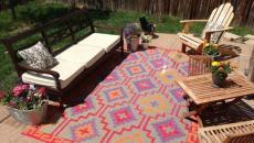 beau tapis moderne terrasse maison
