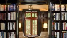 bibliothèque élégante luxe salon de lecture déco