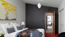ameublement chambre gris clair et gris foncé