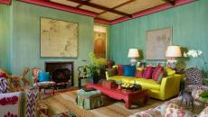 séjour ancien décoration multicolore