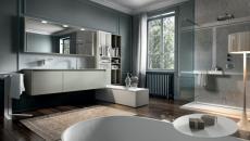 salle de bain gris moderne design