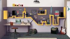 étagère originale chambre adolescent