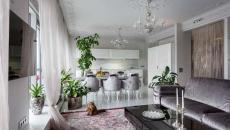 séjour élégant appartement russe citadin
