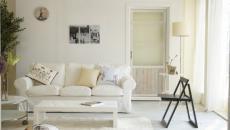 appartement aménagé en blanc