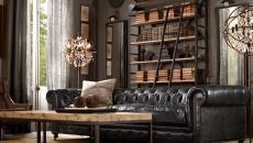 mobilier canapé capitonné design intérieur rétro