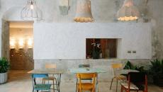salle de table déco industrielle brut restaurant florence