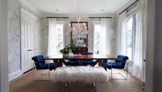 salle à manger originale design assises velours