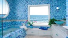salle de bain déco fraiche avec vue