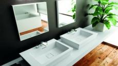 ameublement salle de bain moderne lavabo double