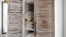 objet récup anciennes volets écaillés