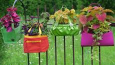 jardin décoré vieux sacs idées récup
