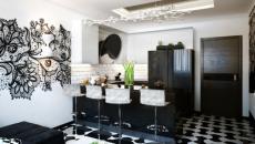 studio de ville cuisine américaine déco élégante