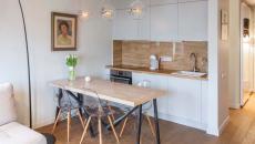 aménagement petit appartement citadin cuisine