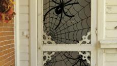 inspiration décoration Halloween originale porte d'entrée