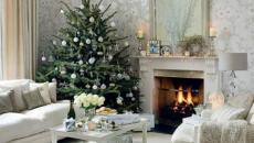 arbre sapin de Noël décoré chic style minimaliste