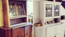 étagères meubles rénové repeint blanc