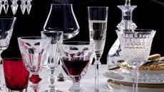 verres en cristal vaisselle chic table de Noël