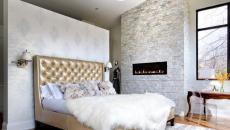 cheminée déco chambre à coucher moderne