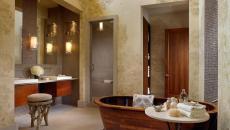 baignoire design luxe déco bois