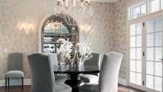 chaises fauteuils en velours intérieur maison moderne
