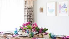 chaise en rotin salle à manger moderne accueillante